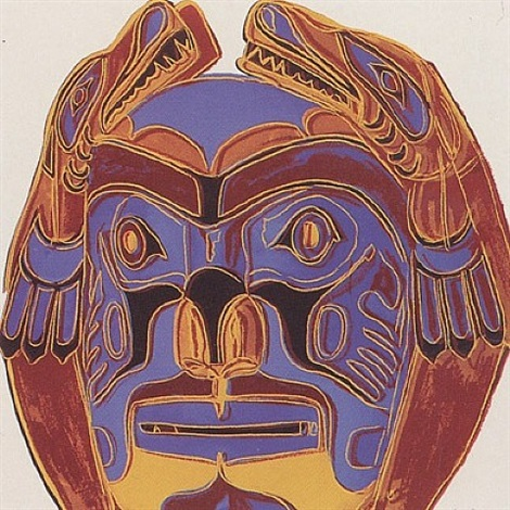 cowboys and indians - northwest coast mask [ii.380] by andy warhol